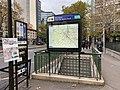 Entrée Station Métro Boulogne Pont St Cloud Boulogne Billancourt 3.jpg