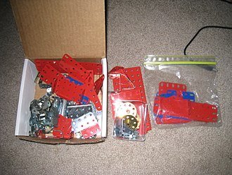 Erector Set - Some components of a modern Erector Set