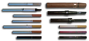 Vaporizer (inhalation device) - Various types of electronic cigarettes.