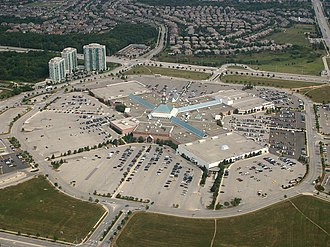 Erin Mills Town Centre - Aerial view of Erin Mills Town Centre (prior to redevelopment)