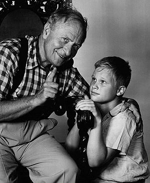 Ernest Truex - Ernest Truex and Brandon deWilde in TV series Jamie (1953)
