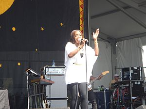 Estelle (musician) - Estelle performing at the New Orleans Jazz & Heritage Festival on May 1, 2015.