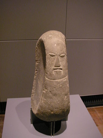 A stone carving of a Hawaiian deity, housed at a German museum. Ethnologisches Museum Dahlem Berlin Mai 2006 009.jpg