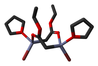 Reformatsky reaction - Image: Ethyl bromozincacetate from xtal 3D sticks C