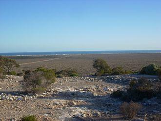 Eucla, Western Australia - Image: Eucla coast from pass