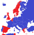 Europe 1950 monarchies versus republics.png