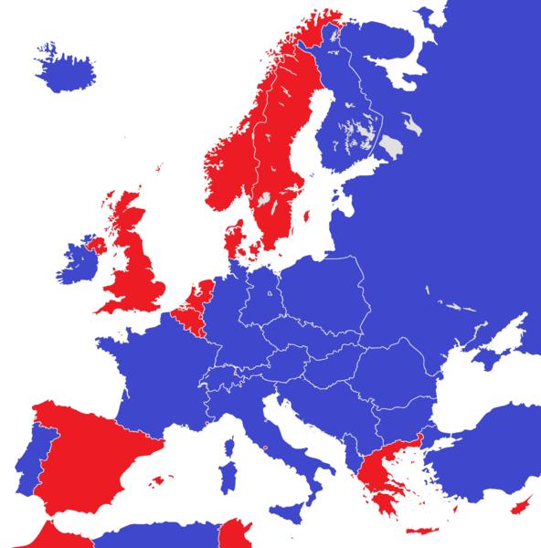 File:Europe 1950 monarchies versus republics.png