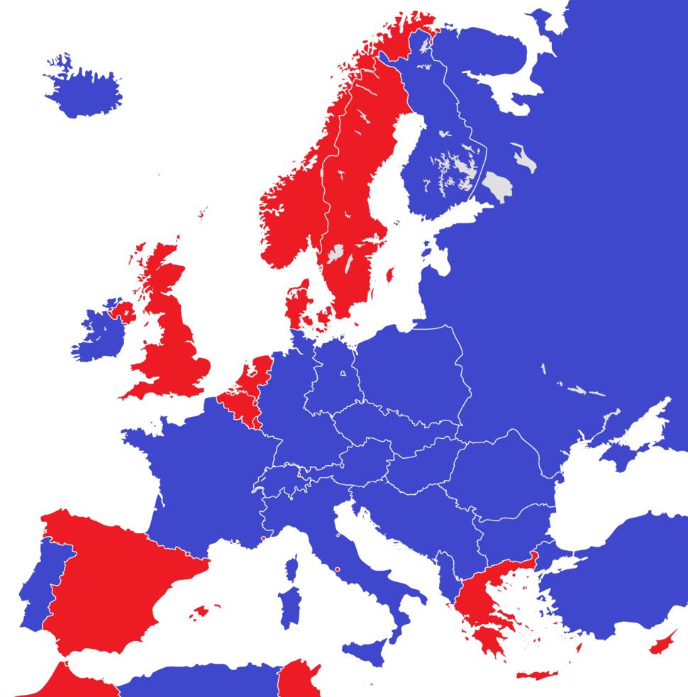 Europe 1950 monarchies versus republics