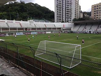 Estádio das Laranjeiras - Exeter City warming up at Estádio das Laranjeiras ahead of their pre-season friendly against Fluminense U23s in 2014.