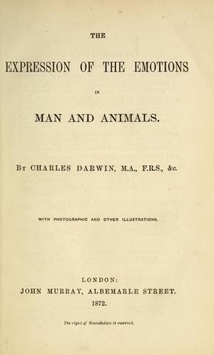 The Expression of the Emotions in Man and Animals - Image: Expression of the Emotions in Man and Animals title page