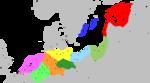 Карта экономического Союза, ок. 1400-х годов