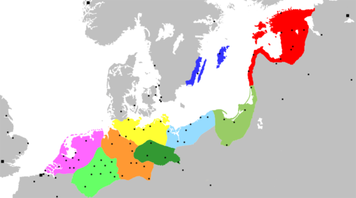 Extent of the Hansa