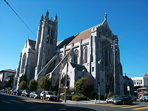 St. Dominic Church in San Francisco - Image: Exterior view of St Dominic catholic church 2013 10 19 14 56