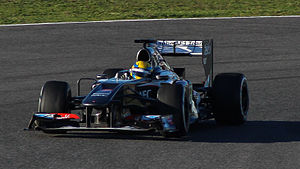Esteban Gutiérrez - Gutiérrez in the Sauber C32 during winter tests at Jerez, in 2013