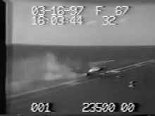 File:FA-18 crash USS John F. Kennedy 1997.webm