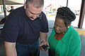 FEMA - 39094 - Congresswoman Sheila Jackson-Lee and Deputy Area Field Office Director in Texas.jpg