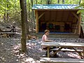 FLT B2 Mile 6.1 New Outback Inn Leanto, 8'x12' interior, with 2 picnic tables, 2 fire rings, open air privy - panoramio.jpg