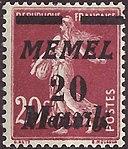 FR 1922 Memel MiNr109 B002.jpg