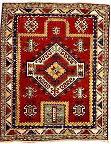 Fachralo Kazak Prayer Rug Last Quarter 19th C Lot 60.jpg