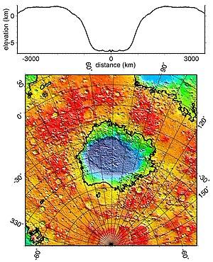 Hellas Planitia in Falschfarben