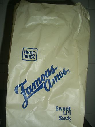 Famous Amos - Package from a Singapore outlet, circa 2007.