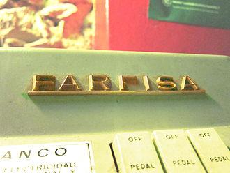 Farfisa - Farfisa logo on Combo Compact