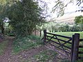 Farm track and gate - geograph.org.uk - 589386.jpg
