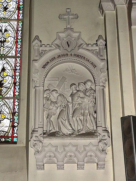 Feignies (Nord, Fr) église, chemin de croix, station 01