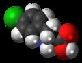 Fenclonine molecule spacefill.png