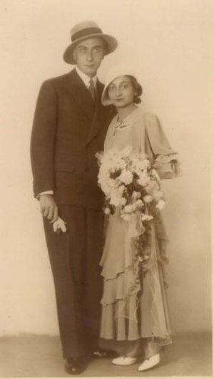 Ferdo Delak - Ferdo Delak with his wife