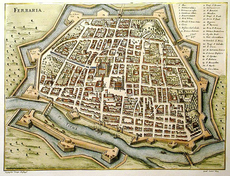 Феррара — просто офигенный город. Очень уютный и сильно кирпичный