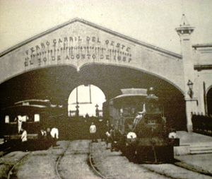 Once railway station - The original Del Parque railway station of the Buenos Aires Western Railway.