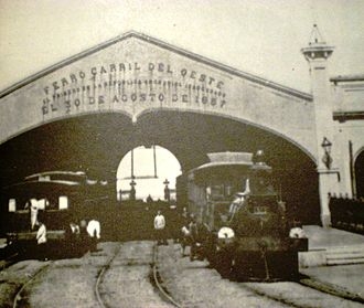 Once railway station - The original Del Parque railway station of the Buenos Aires Western Railway.