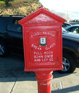 Fire alarm system - A publicly accessible alarm box on a street in San Francisco