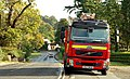 Fire appliance near Dunmurry - geograph.org.uk - 1518260.jpg