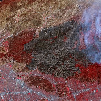 Station Fire (2009) - Image: Fires in Los Angeles County 2009