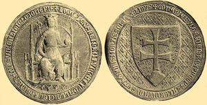 "Tvrtko I of Bosnia - Louis I of Hungary' first seal, infamously lost (officially ""stolen"") during his campaign against Bosnia"
