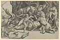Five men fighting beasts, at lower left is a fallen boar MET DP847771.jpg