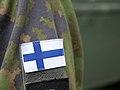 Flag of Finland in army uniform 20180604.jpg