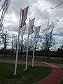 Flagpoles, Óhegy Park, 2018 Kőbánya.jpg