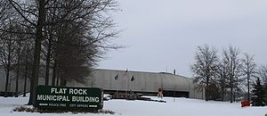Flat Rock Michigan Municipal Building.JPG