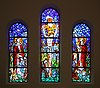 Flinthold Church glass mosaic windows in Copenhagen by Jais Nielsen