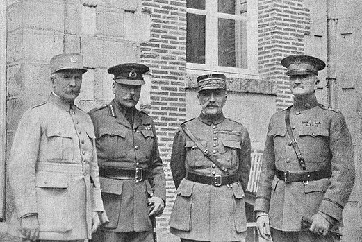 Foch Pershing Petain and Haig