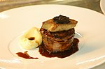 Foie gras, rognon, truffe noire et écrasé de pommes de terre.jpg