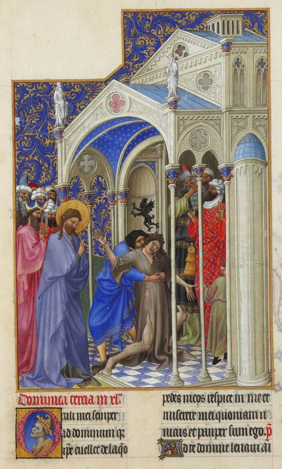 Folio 166r - The Exorcism