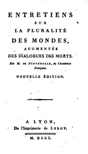 File:Fontenelle - Entretiens sur la pluralité des mondes, Leroy, 1820.djvu