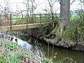 Footbridge over Rea Brook - geograph.org.uk - 746810.jpg