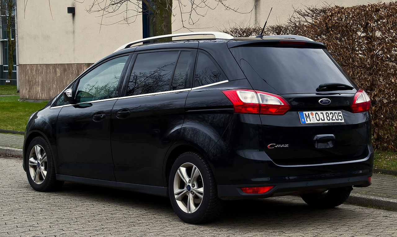 file ford grand c max champions edition ii heckansicht 31 dezember 2012. Black Bedroom Furniture Sets. Home Design Ideas