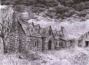 Minor places in Middle-earth - Artist´s depiction of Forsaken Inn