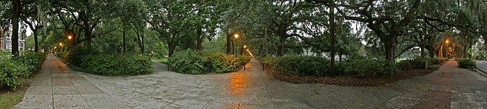 Panoramic view of Forsyth Park